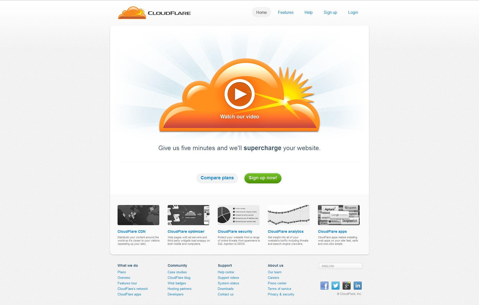 Site du vendredi : cloudflare.com