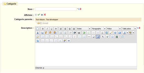 Prestashop : Ajouter un editeur wysiwyg sur la description des catégories