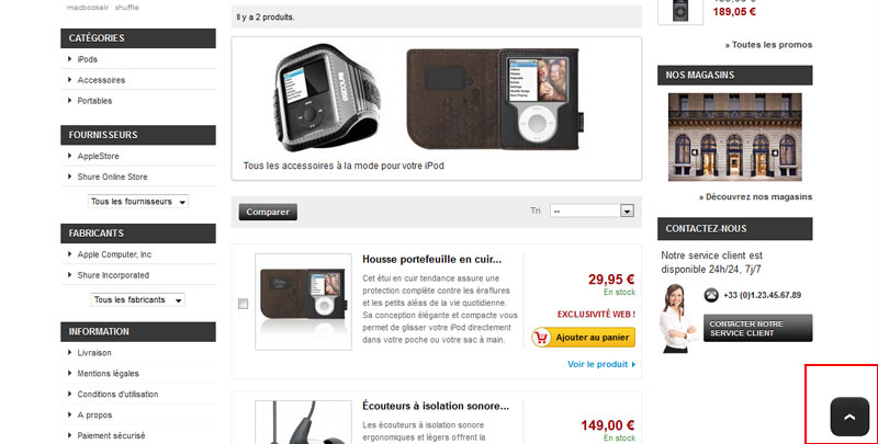 Prestashop : Module Scroll To Top