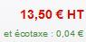 Prestashop 1.4 : Afficher le prix produit sans l'écotaxe