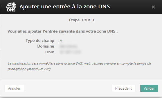Configuration dns ovh