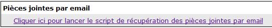 EmailFile récupération manuelle