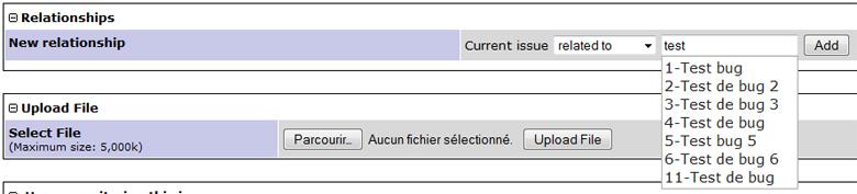 Mantis Bugtracker : Plugin auto suggestion des noms des bugs et des utilisateurs