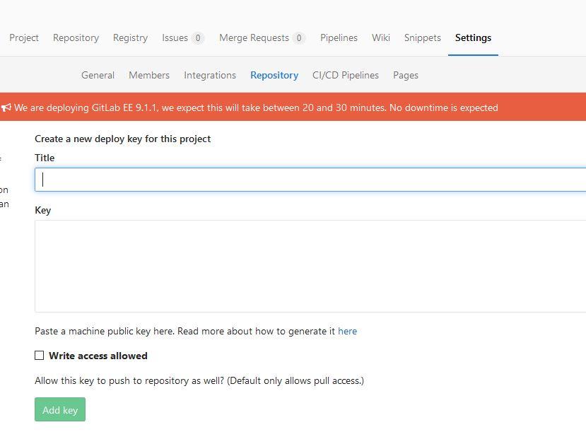 Gitlab deploy key