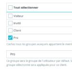Prestashop : Ajout rapide des droits pour un groupe utilisateur