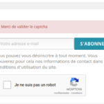 Prestashop : Ajouter un captcha sur l'inscription à la newsletter